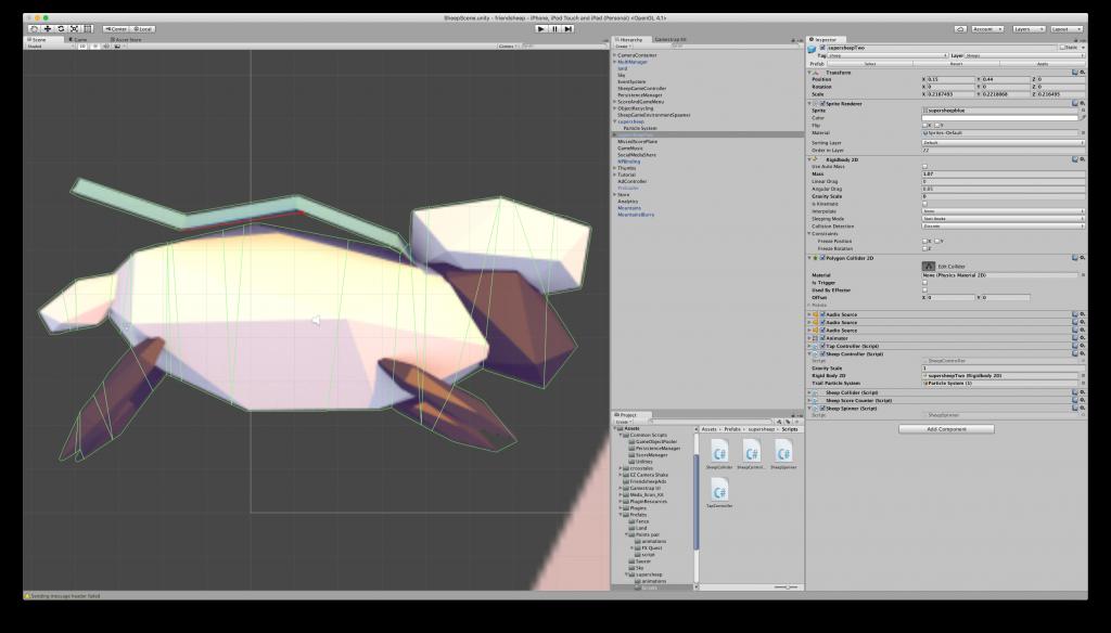 Simplify Polygon collider - Friendsheep